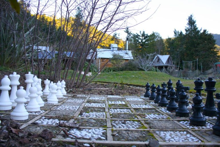 Outdoor Chess At On The Track Lodge Nydia Bay