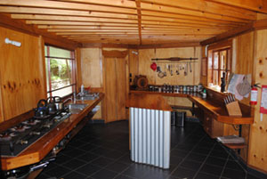 Kitchen At On The Track Lodge Nydia Bay