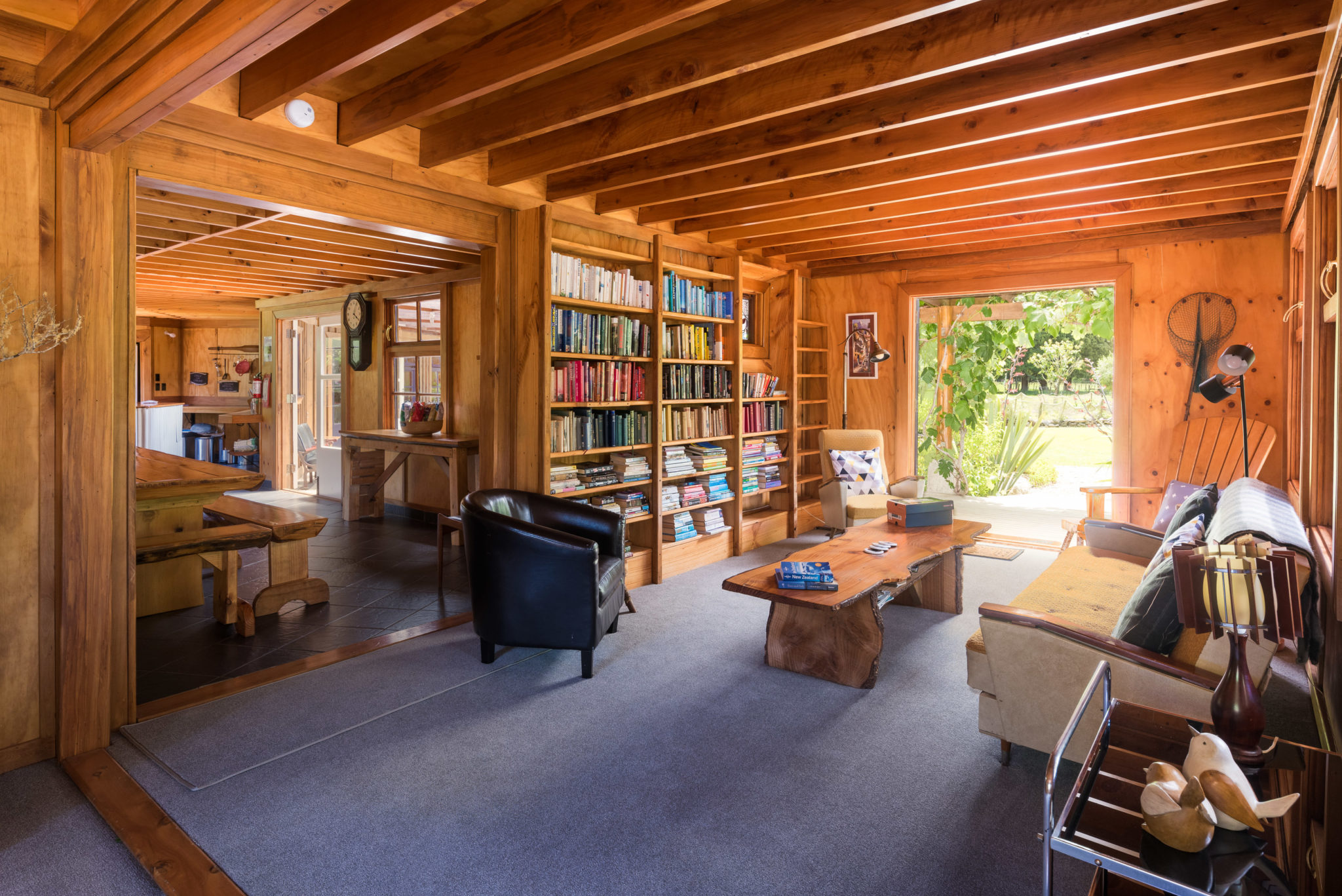 Library And Games Room On The Track Lodge Nydia Bay