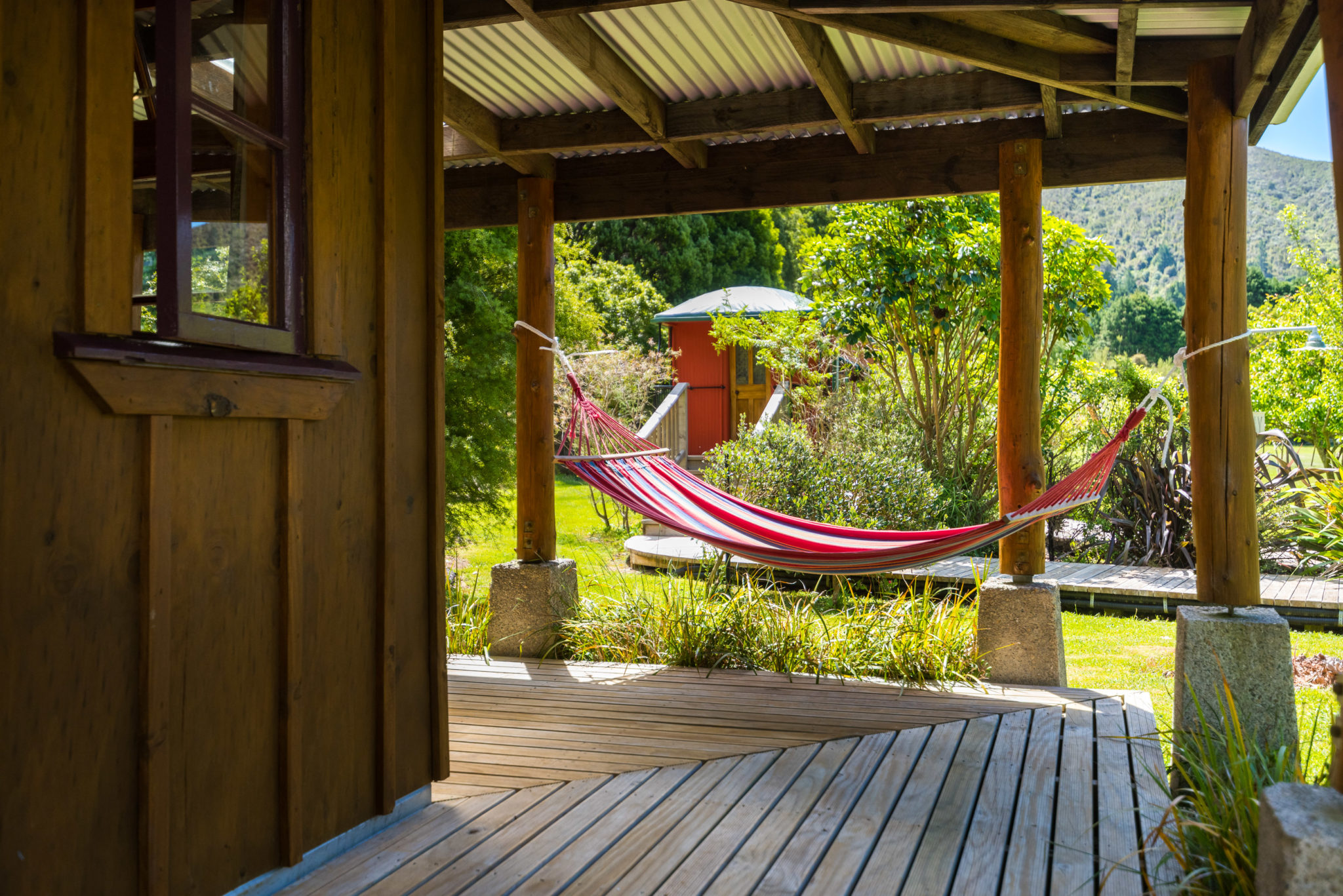 Hammock At On The Track Lodge Nydia Bay